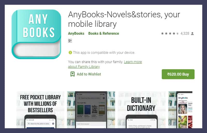 AnyBooks App - Novels&stories, your mobile library
