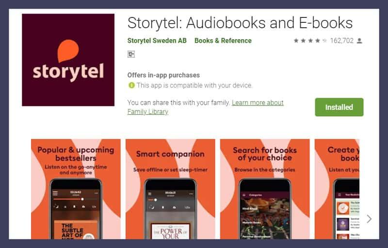 Storytel Audiobooks and E-books