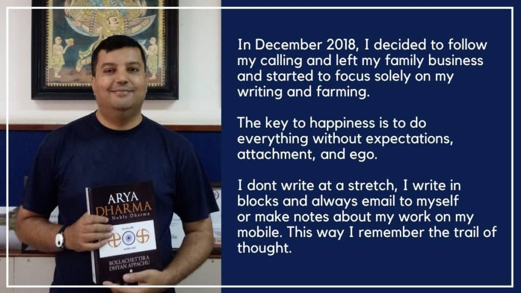 Dhyan Bollachettira Author Interview