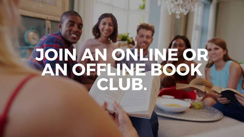 Join an online or an offline book club