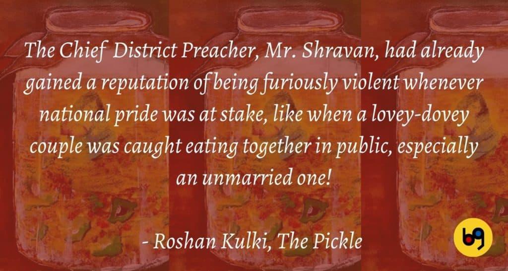 The Pickle by Roshan Kulki Book Review bookGeeks