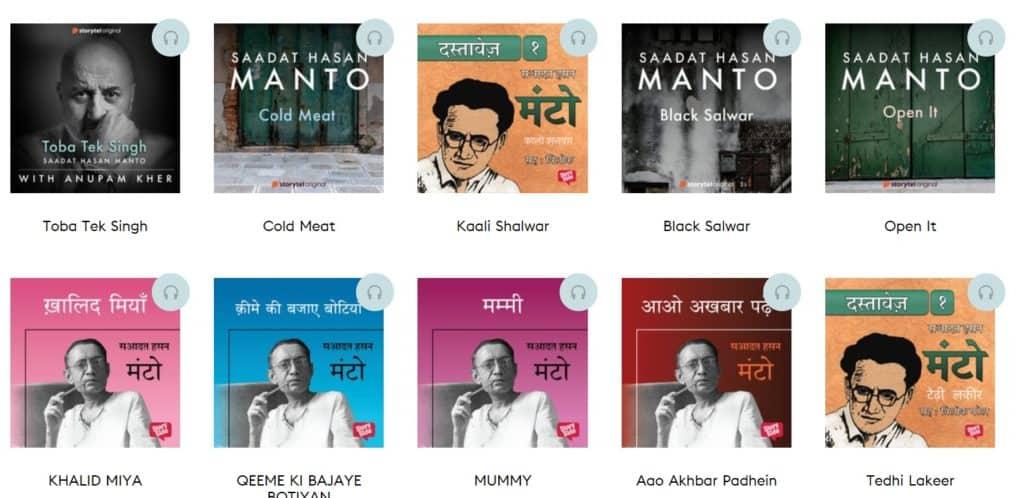 Manto audiobooks on storytel app