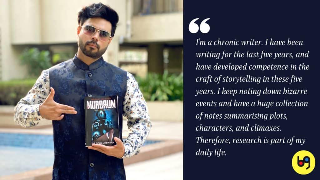 Dr. Sohil Makwana talks about his debut book Murdrum Author Interview bookGeeks